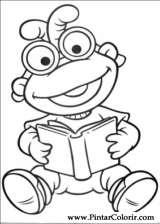 Pintar e Colorir Muppet Babies - Desenho 006