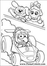Pintar e Colorir Muppet Babies - Desenho 007