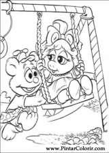Pintar e Colorir Muppet Babies - Desenho 020