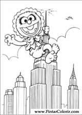 Pintar e Colorir Muppet Babies - Desenho 022