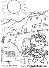 Pintar e Colorir Muppet Babies - Desenho 023