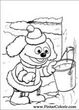 Pintar e Colorir Muppet Babies - Desenho 035