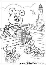 Pintar e Colorir Muppet Babies - Desenho 036