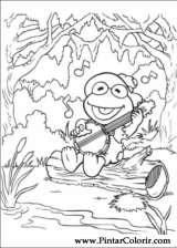 Pintar e Colorir Muppet Babies - Desenho 047