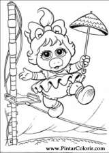 Pintar e Colorir Muppet Babies - Desenho 059