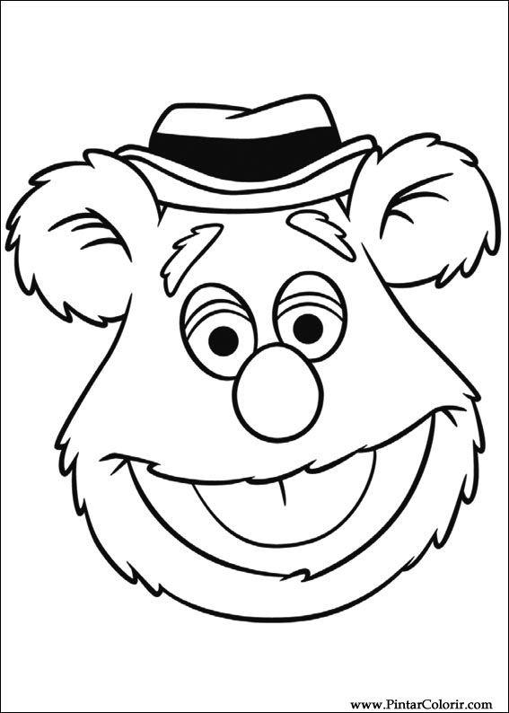 Dibujos para pintar & Colour Muppets - Diseño de impresión 010