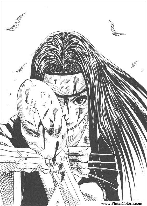 Dibujos para pintar y Color Naruto - Diseño de impresión 009