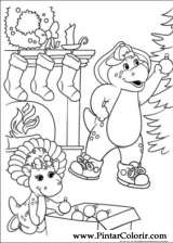 Pintar e Colorir Natal Amigos - Desenho 001