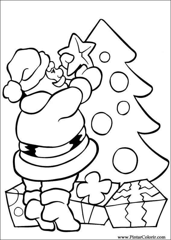 drawings to paint colour christmas print design 010