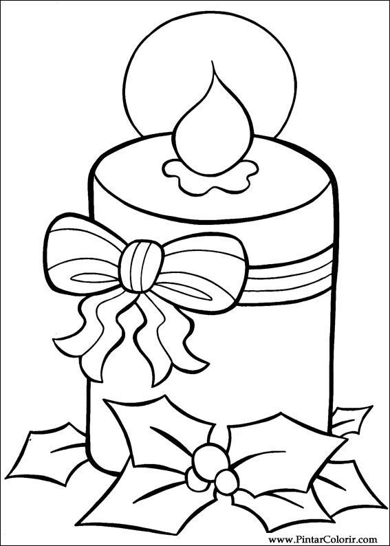 Dibujos Para Pintar Y Color Navidad Diseño De Impresión 018
