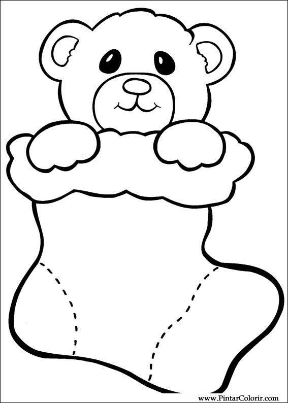 Tekeningen Te Schilderen Kleur Kerst Print Design 026