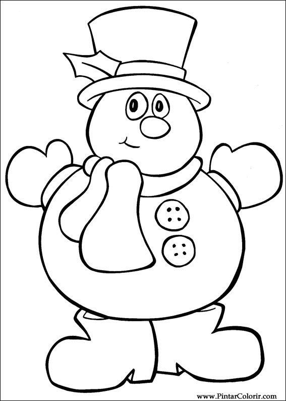 Desenhos Para Pintar E Colorir Natal Imprimir Desenho 032