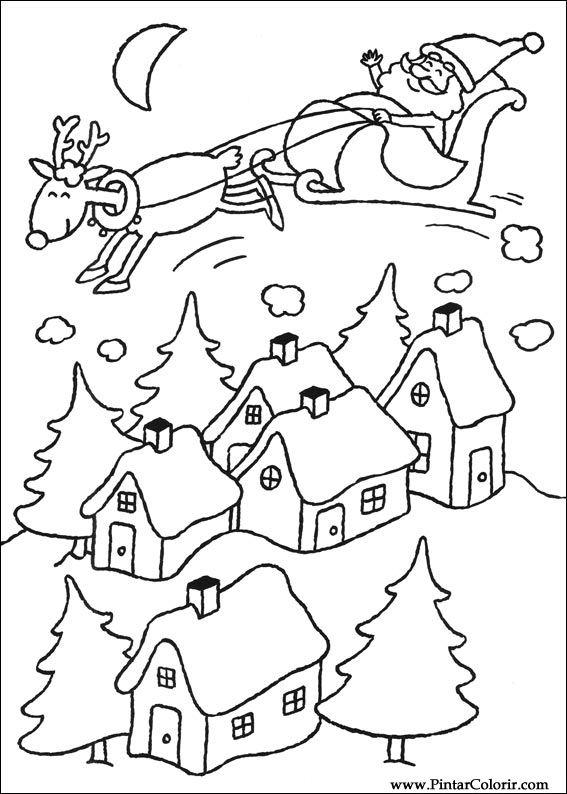 Desenhos Para Pintar E Colorir Natal Imprimir Desenho 100
