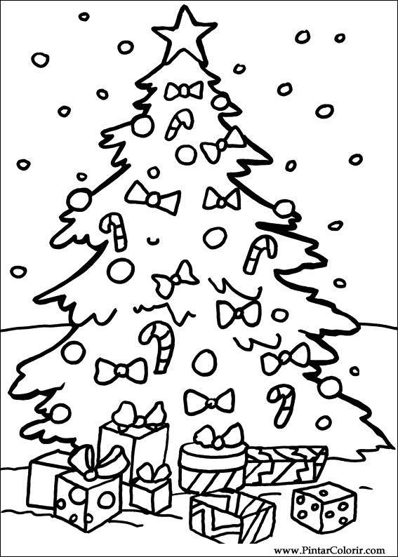 Dibujos para pintar y Color Navidad - Diseño de impresión 112