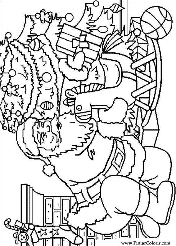 Desenhos Para Pintar E Colorir Natal Imprimir Desenho 194