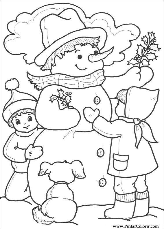 Dibujos para pintar y Color Navidad - Diseño de impresión 217