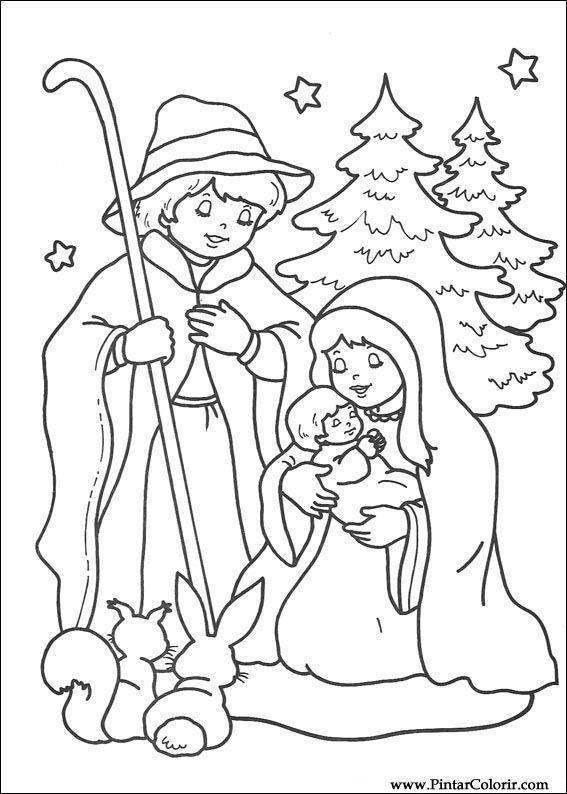 Нарисованная карандашом открытка к рождеству, анимацией марта