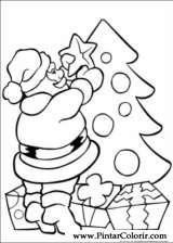 Tekeningen Te Schilderen Kleur Kerst Print Design 010