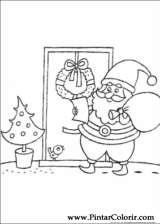 Pintar e Colorir Natal - Desenho 077