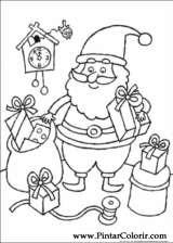 Pintar e Colorir Natal - Desenho 085
