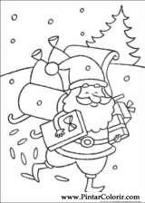 Pintar e Colorir Natal - Desenho 090