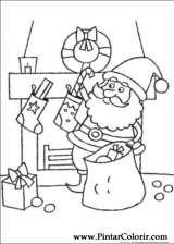 Pintar e Colorir Natal - Desenho 105