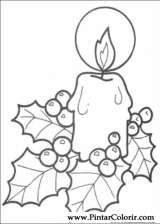 Pintar e Colorir Natal - Desenho 128