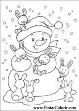 Pintar e Colorir Natal - Desenho 211