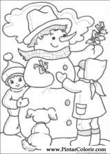Pintar e Colorir Natal - Desenho 217