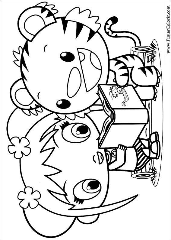 Dibujos para pintar & Colour Ni Hao Kai Lan - Diseño de impresión 003