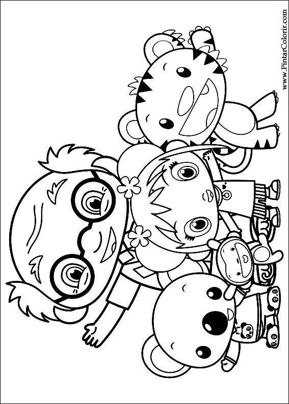 Drawings To Paint & Colour Ni Hao Kai Lan - Print Design 011