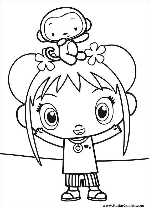 Desenhos Para Pintar e Colorir Ni Hao Kai Lan - Imprimir Desenho 020