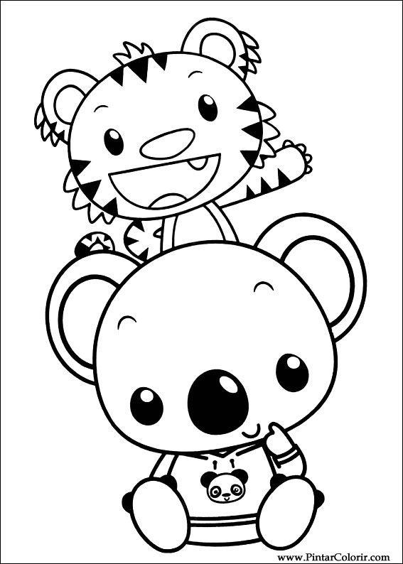 Drawings To Paint & Colour Ni Hao Kai Lan - Print Design 034