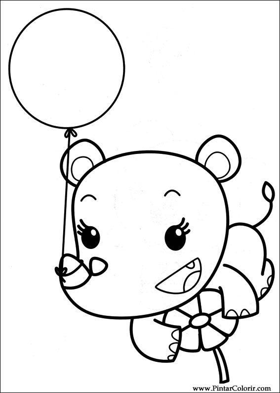 Drawings To Paint & Colour Ni Hao Kai Lan - Print Design 043