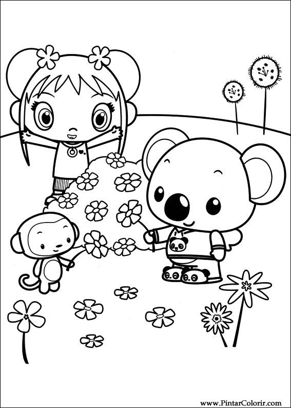 Drawings To Paint & Colour Ni Hao Kai Lan - Print Design 044