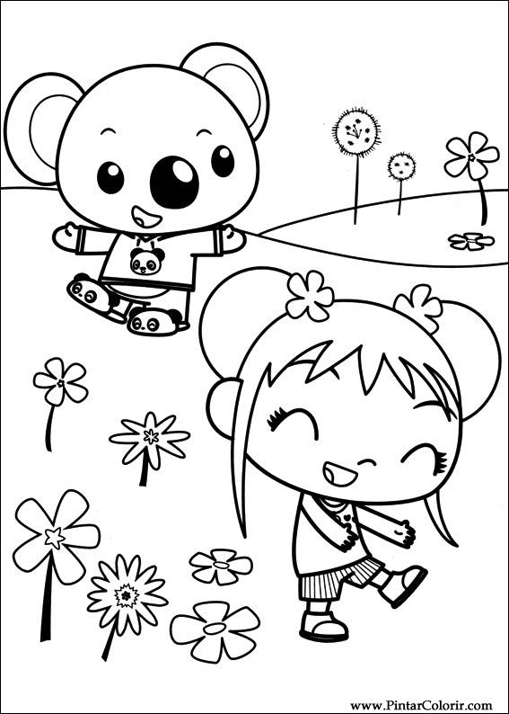 Desenhos Para Pintar e Colorir Ni Hao Kai Lan - Imprimir Desenho 046