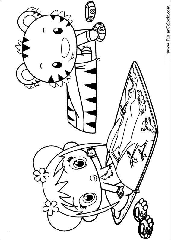 Drawings To Paint & Colour Ni Hao Kai Lan - Print Design 048