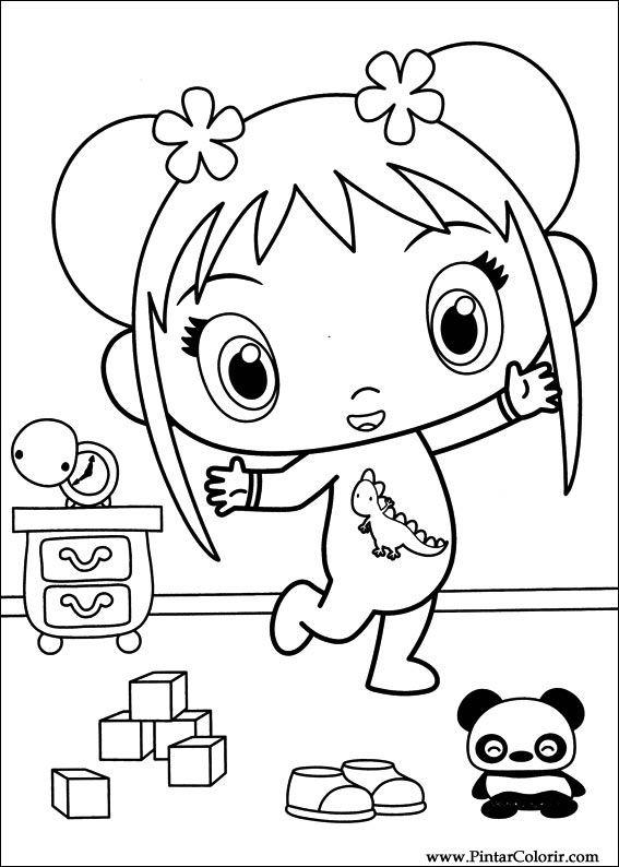 Desenhos Para Pintar e Colorir Ni Hao Kai Lan - Imprimir Desenho 049