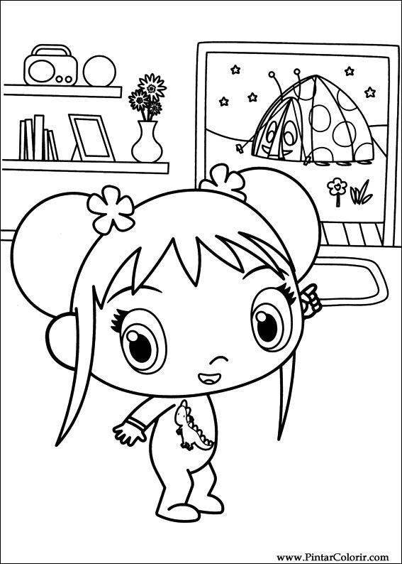 Desenhos Para Pintar e Colorir Ni Hao Kai Lan - Imprimir Desenho 050