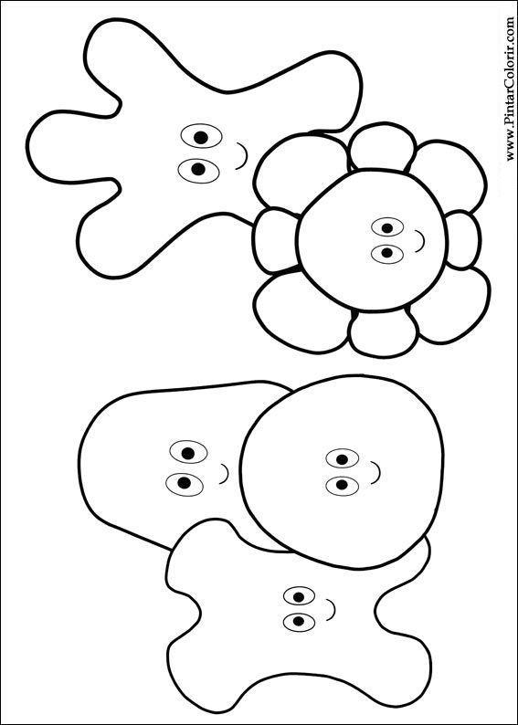 Dibujos para pintar y Color jardín de la noche - Diseño de impresión 001