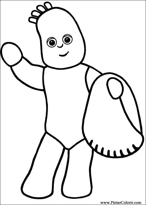 çizimler Boya Ve Renk Gece Bahçesi Için Baskı Tasarım 004