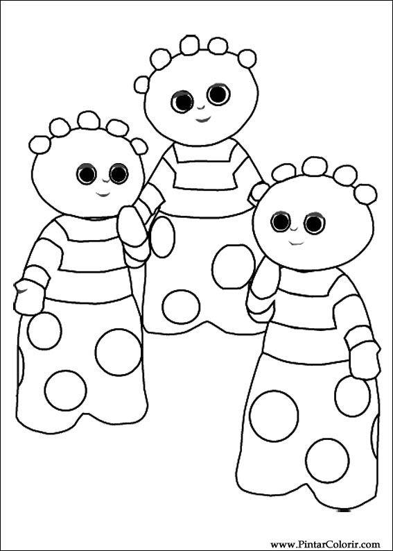 çizimler Boya Ve Renk Gece Bahçesi Için Baskı Tasarım 013