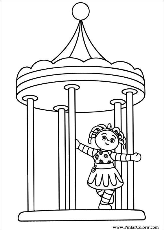 çizimler Boya Ve Renk Gece Bahçesi Için Baskı Tasarım 019