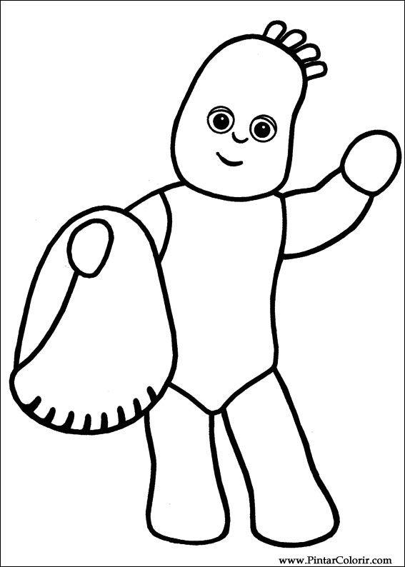çizimler Boya Ve Renk Gece Bahçesi Için Baskı Tasarım 020