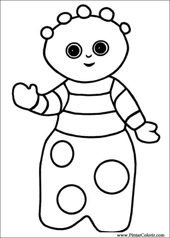 çizimler Boya Ve Renk Gece Bahçesi Için Baskı Tasarım 021