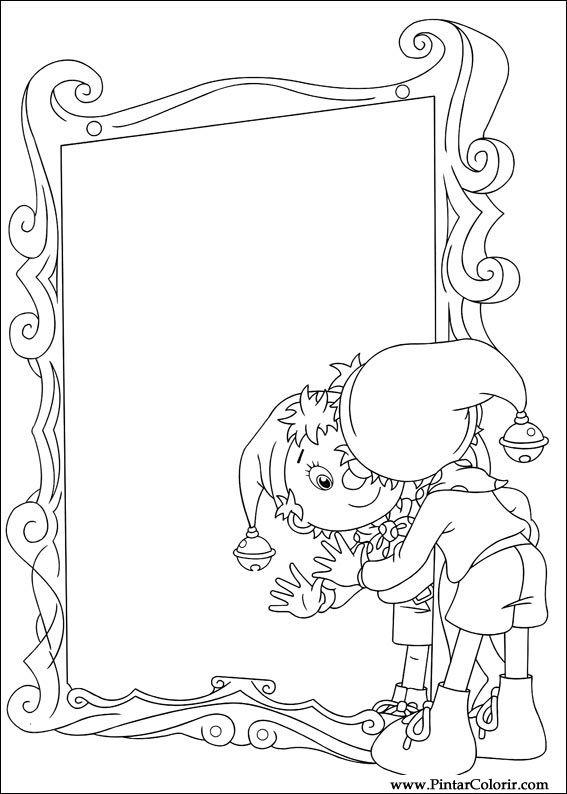 Pintar e Colorir Noddy - Desenho 004