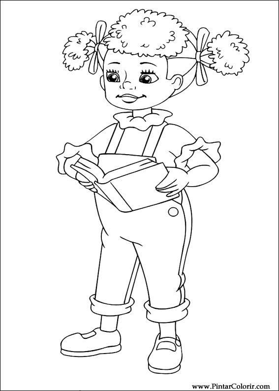 Pintar e Colorir Noddy - Desenho 008