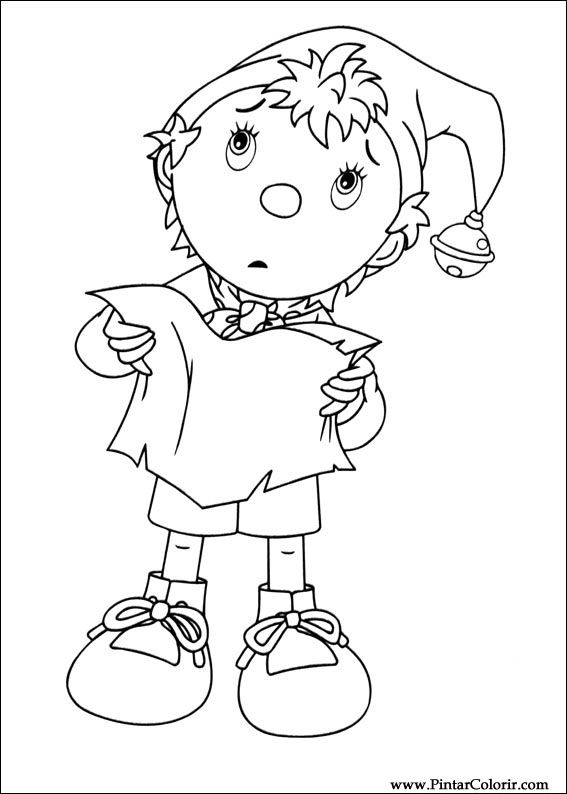 Drawings To Paint Colour Noddy Print Design 012