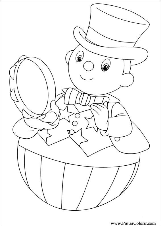 Drawings To Paint Colour Noddy Print Design 034
