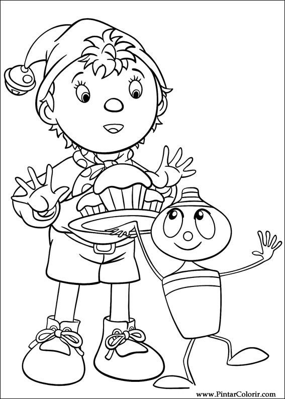 Drawings To Paint Colour Noddy Print Design 125